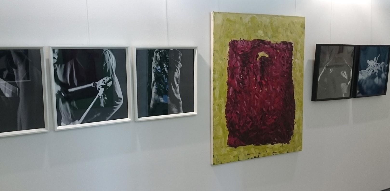 """Bilder aus der Ausstellung """"ich reise nicht ich flüchte"""""""